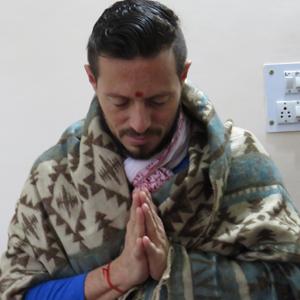 ezequiel anguizola at narayan yoga rishikesh india